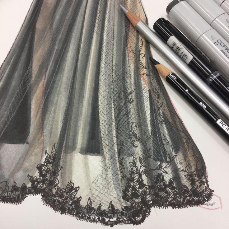 WIP | Lace renderings by Paul Keng
