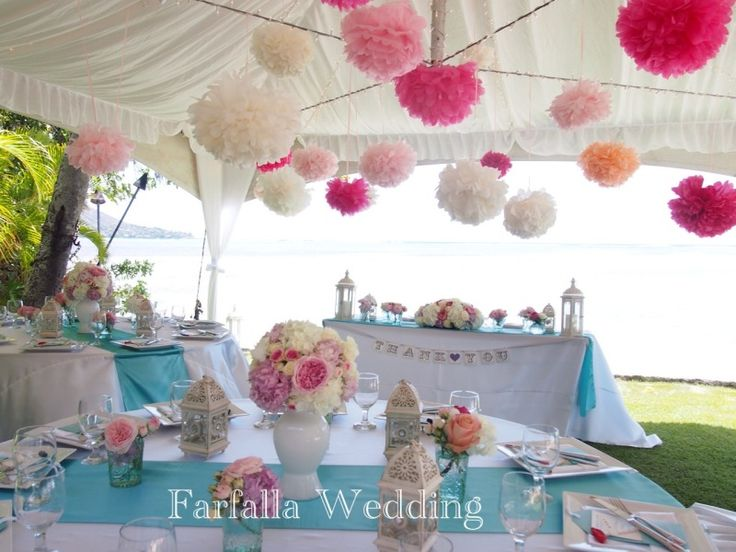 邸宅ウェディング〜ティファニーブルー&ピンクのテーマカラー♪〜 の画像|ハワイ在住ウェディングプランナーMAITO