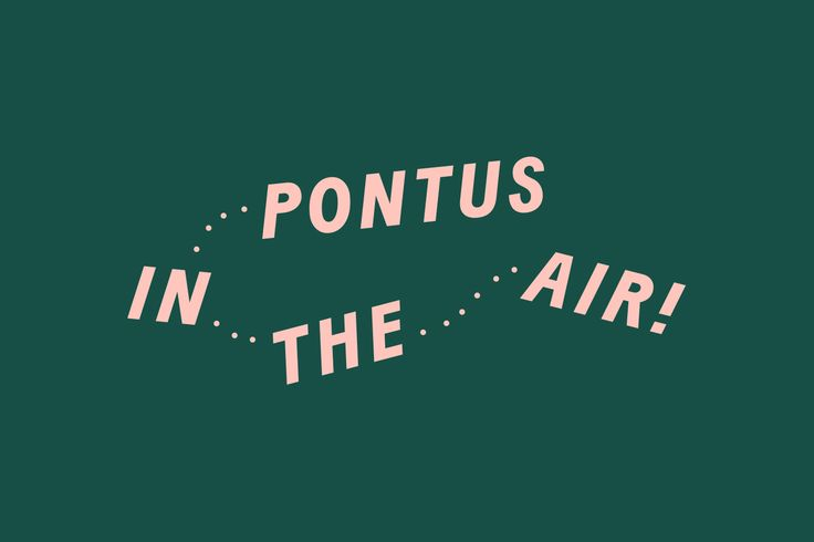 Pontus In The Air by Bold, Sweden. #branding #logo #restaurant