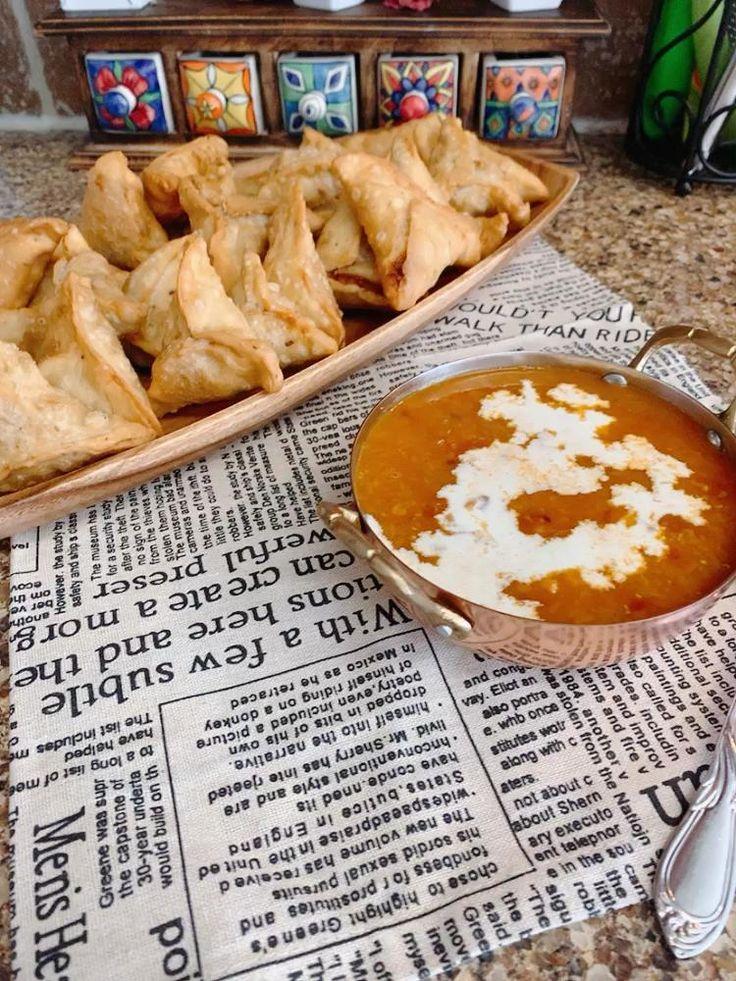 Samosas and Indian lantil soup [Video] in 2020 Food, I