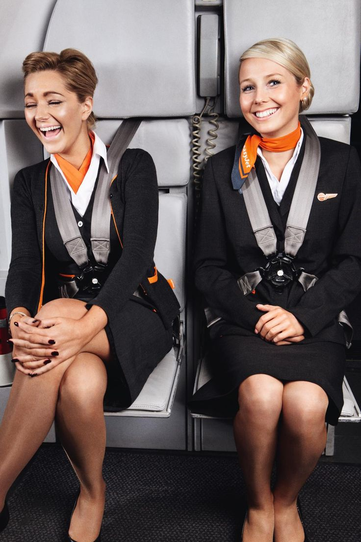Air hostess flashing awesome tits and ass to colleagues 3