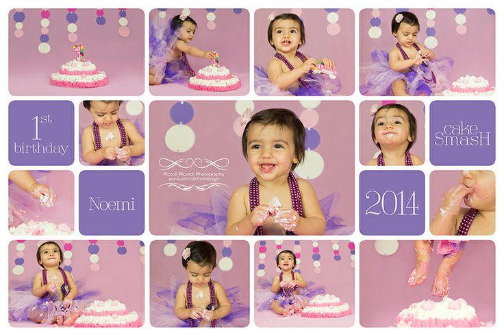 Tantissimi auguri alla piccola Noemi per il suo primo compleanno! - Fotografo bambini cakesmash smashcake Milano, Rozzano, Pavia, Roma
