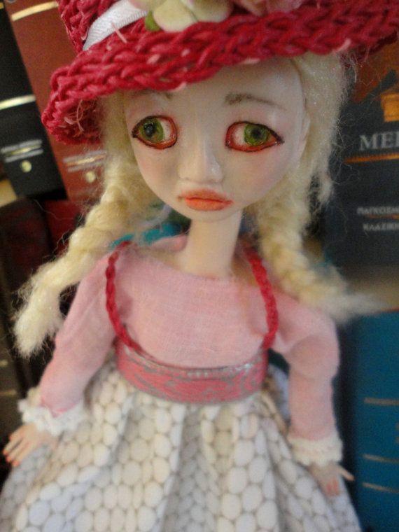 PINK MELACHOLIA , Romantic Doll,ooak art doll,Sad and Optimistic Doll,