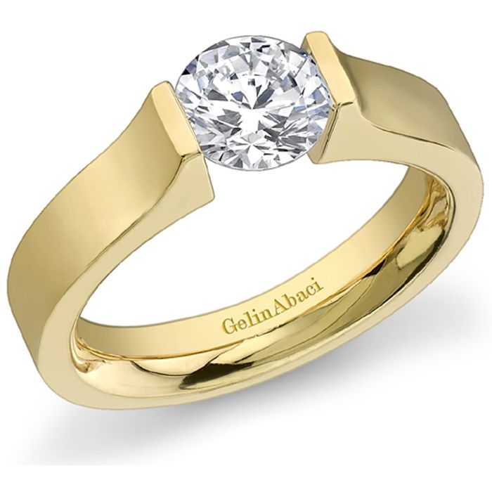 classic tension engagement ring by httpwwwengagediamondscom - Wedding Rings Toronto