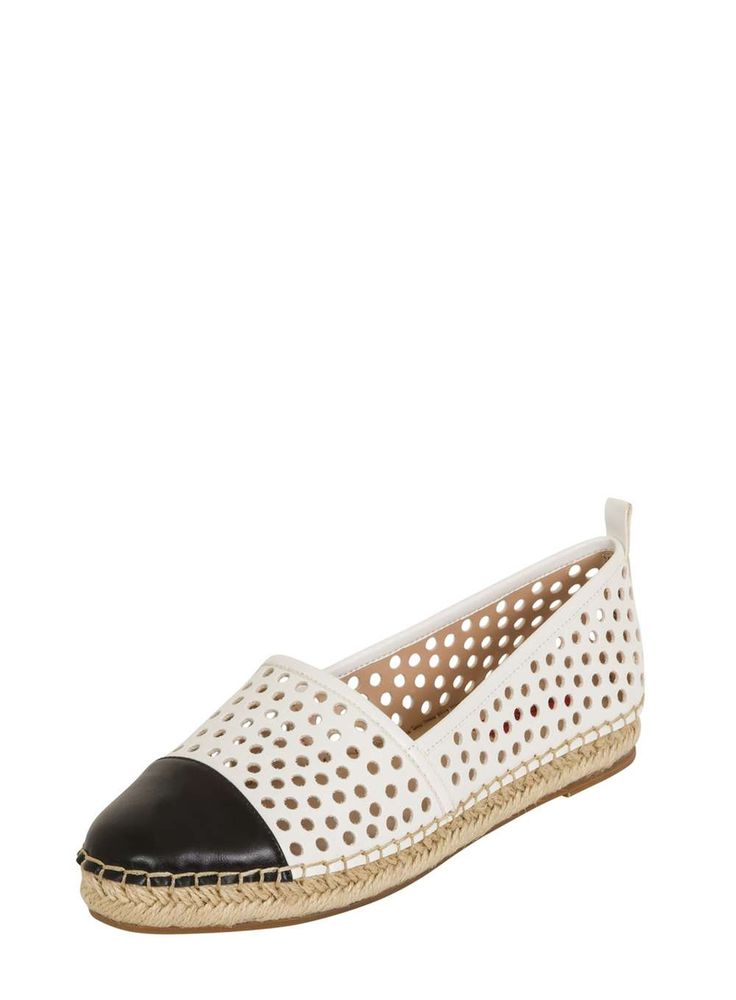 *Black and White Espadrille
