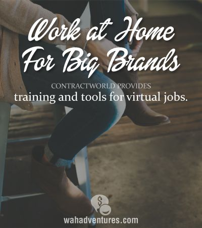 Contract World is a great place to find work at home jobs with big companies like Loreal, KFC and more