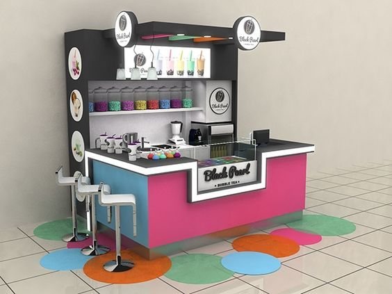Blackpearl Bubble Tea Shopping Mall Stand