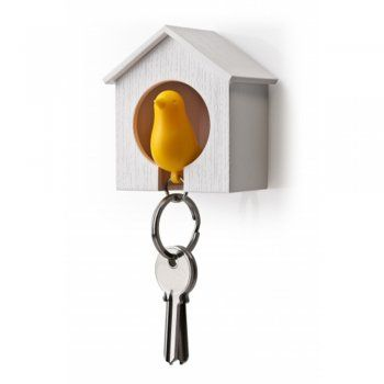 Yellow Sparrow & House Key Holder - from Cult Furniture UK