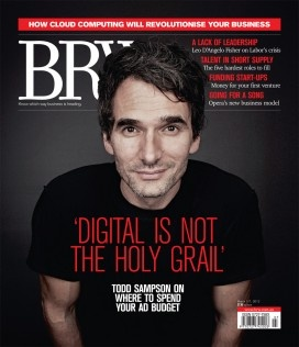 Todd Sampson on the cover of BRW. Brilliant marketing mind.