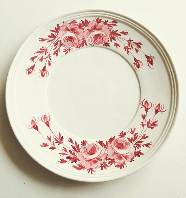 Grand plat poterie italienne, plat extra large faïence italienne décoré avec fleurs  rose, plat de service, plat ancien, poterie ancienne de la boutique VintagechicBruxelles sur Etsy