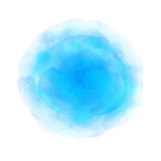 Watercolor Circle Blue Brush Background Watercolor Circle Blue