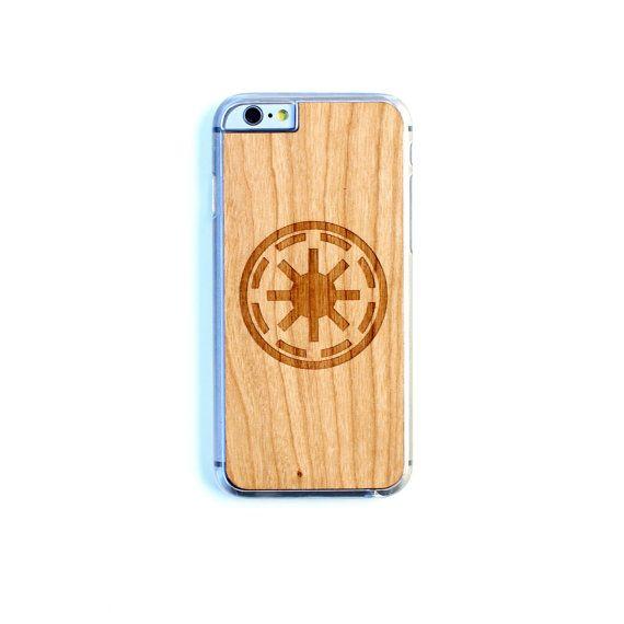TIMBER Wood Skin Case (iPhone 5 / 6s / 6s Plus / 7 / 7 Plus, Samsung Galaxy S5 S6 S6 Edge / S6 Edge Plus / S7 / S7 Edge) : Galactic Republic