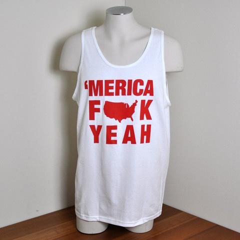 'MERICA FUCK YEAH Party Tank Top: Tank Tops, Clothes, Parties, Fuck Yeah, Merica Fuck, Tanktop, Team America