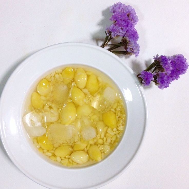 Ginkgo nut and mung bean in honey syrup