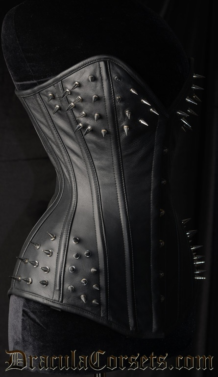 Spiked Overbust Corset #goth