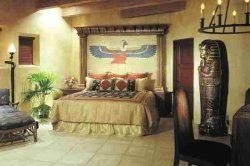 Looking for Ancient Egyptian Bedroom Ideas? Then look no more. Find Egyptian home decor like Egyptian god statutes, Egyptian furniture and bedding....