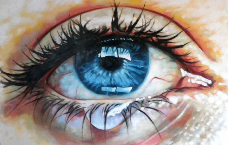 "Saatchi Art Artist Thomas Saliot; Painting, ""Close up teary eye"" #art"