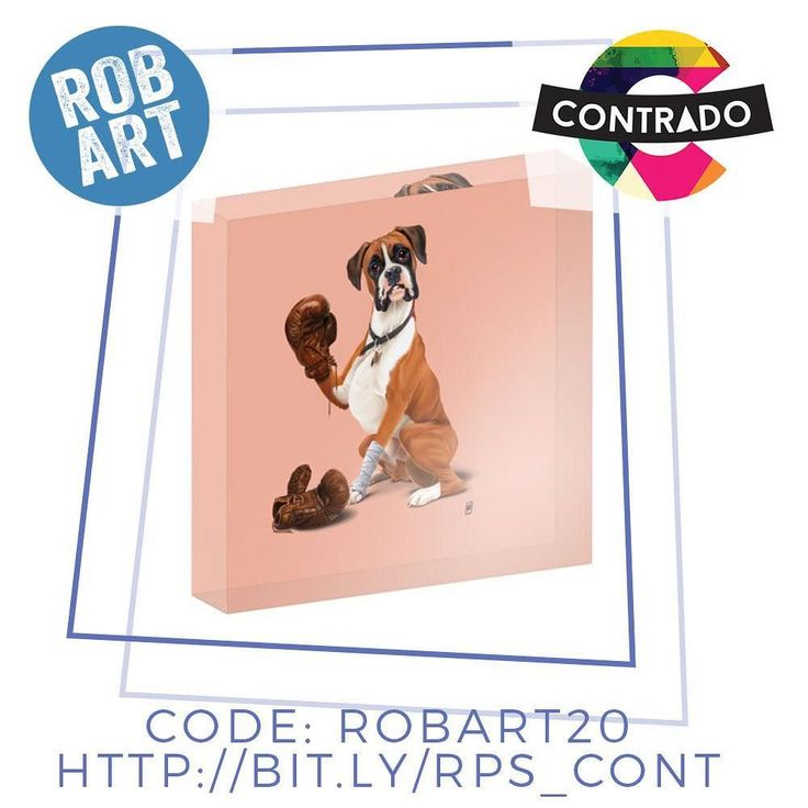 Beat everyone to the punch to have a Boxer acrylic block print! I am very excited about it because their products rock with quality and that hand made touch!! Also (to come) the range of items I will have on offer is immense!!! Check out the store here http://bit.ly/RPS_cont and get a first week offer of 20% OFF with code: ROBART20 Check out the blog post about the collaboration too! http://ift.tt/2tYUwxq Contrado_UK #contrado #contradocreative Rob Art Illustration #robart #print #fashion…
