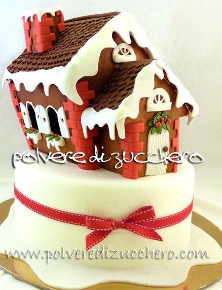 gingerbread house  Cake by PolverediZucchero