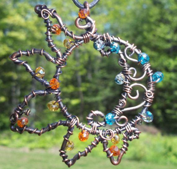 Sun and Moon Pendant by MyCraftCrayze on Etsy, $26.25