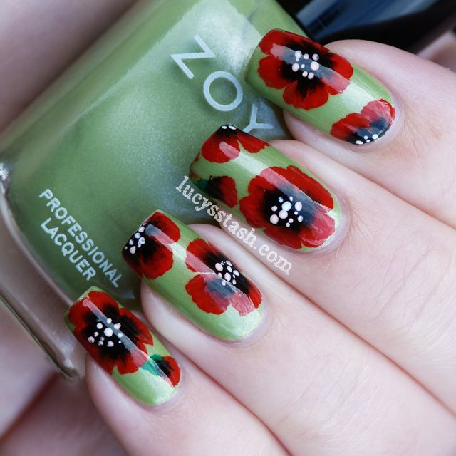 109 Best Images About One Stroke Polycolor Acrylic Nail