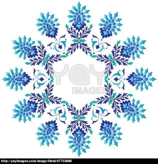 Ottoman motifs design series seventy four