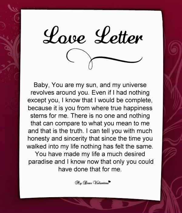 What to write in a love letter to your girlfriend Essay Service