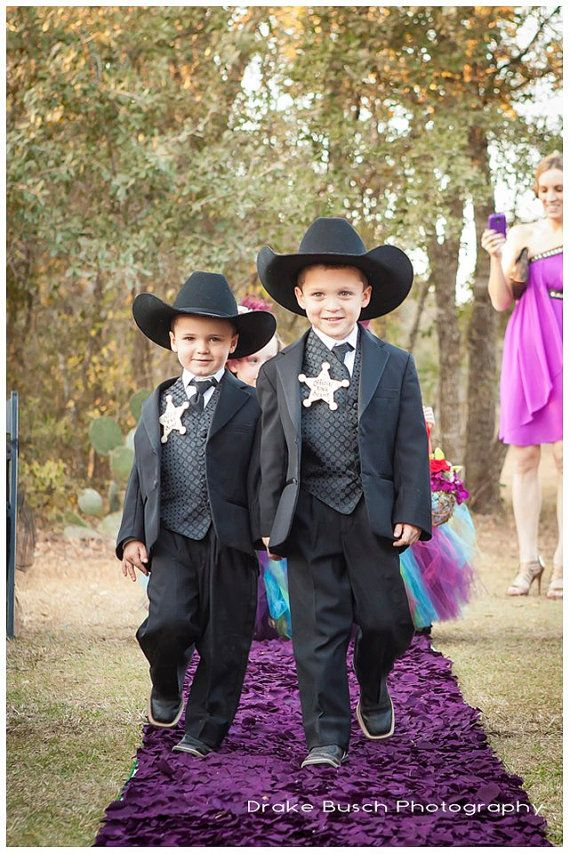 Ring Bearer Gift Official Ring Bearer Badge for Rustic Wedding Set of 2 For Two Special Boys Western Chic Wedding on Etsy, $20.49