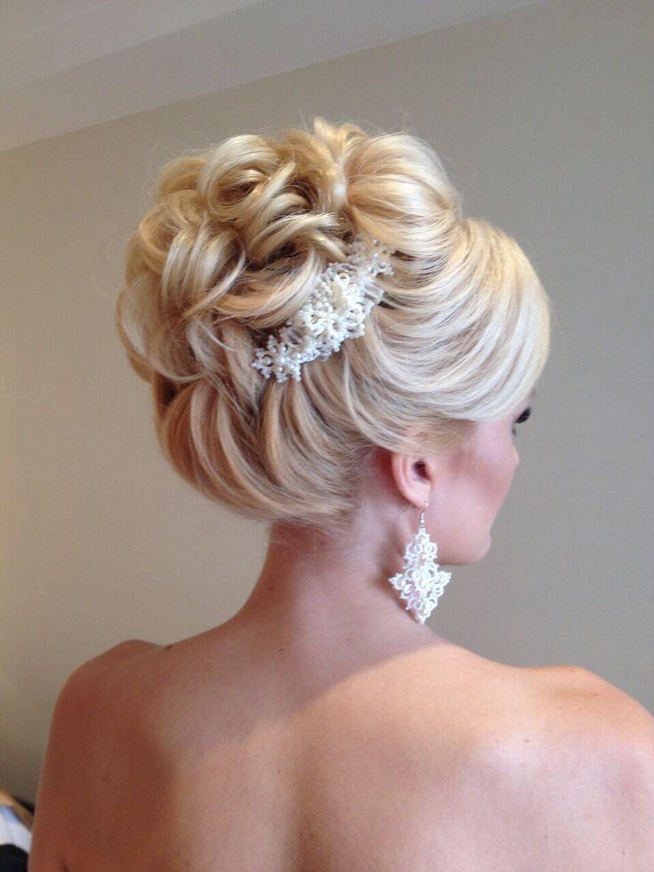 Schöne Braut Look Make-up, Frisuren