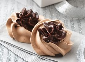 Chocolate Truffle Meringues      Meringue cookies are as light as air, thanks to whipped egg whites. Topped with a rich chocolate filling, you'll find they are irresistible!