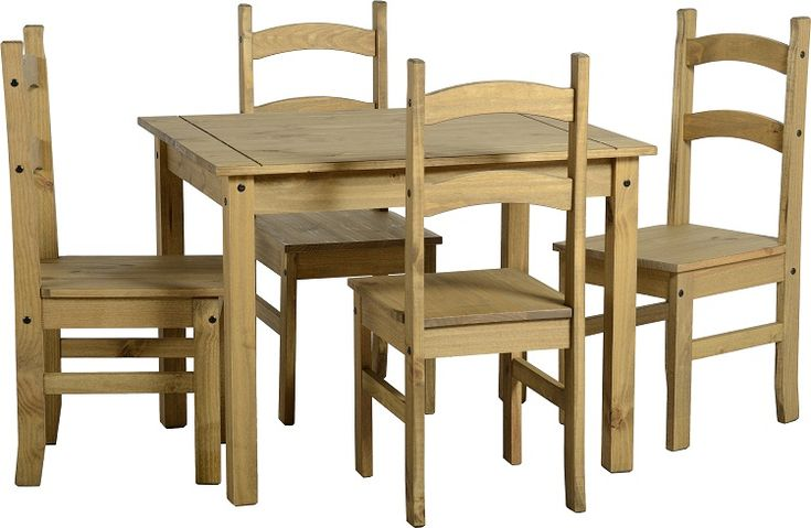 Solid Mexican Pine Dining Chair with 4 Dining Chairs. Only £125