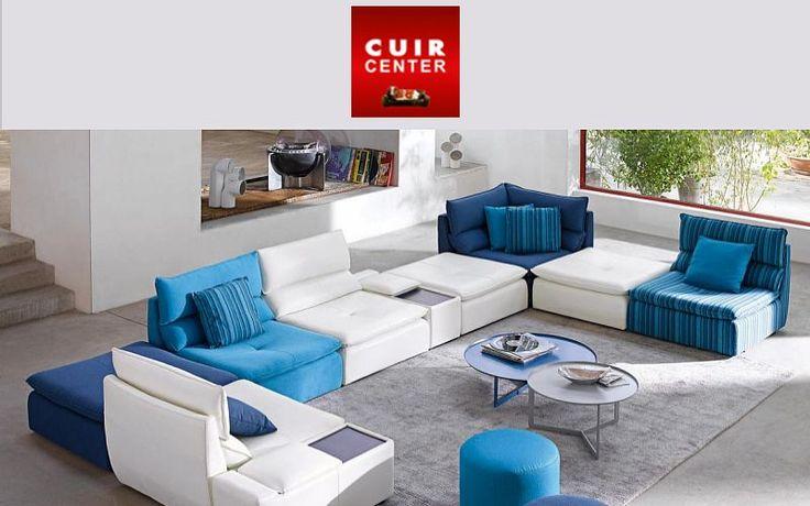 modular sofa multicoloured leather - Google Search