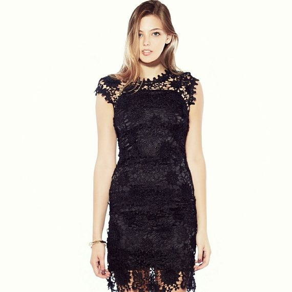 Black Lace Dress - Made of High Quality Lace