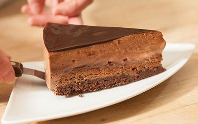 Dark Chocolate Mousse Royale W Praline Crunch This