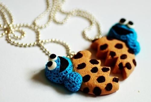 Friendship Cookie Monster Necklace