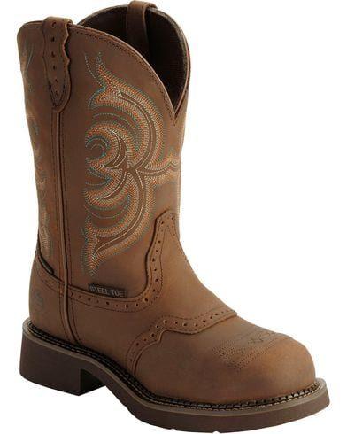 Justin Gypsy Women's Waterproof Steel Toe Work Boots   Boot Barn