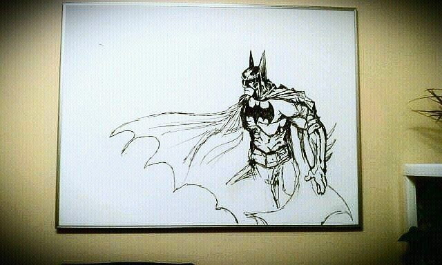 Batman whiteboard art by sam young i like to draw for Easy whiteboard drawings