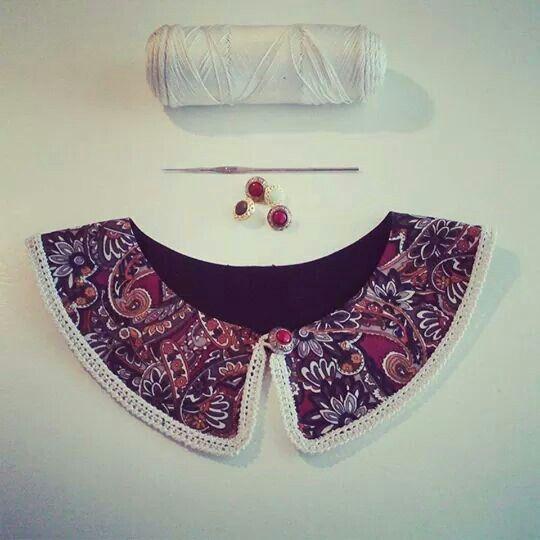 Cuellos tela y ganchillo!  By Nuevemí