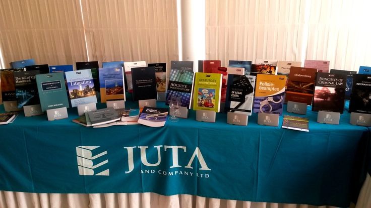 A display of books at the Juta Exhibition.