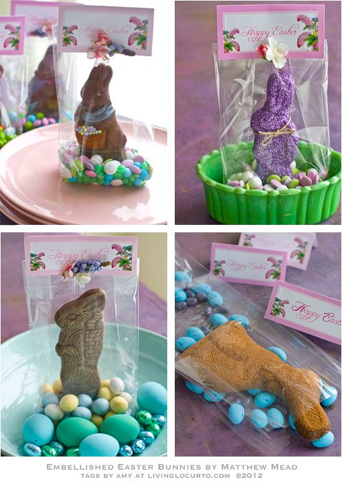 DIY 4 Chocolate Bunny Edible Crafts With Free Printable Easter Tags
