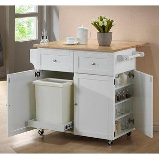 Coaster Home Furnishings 900558 Transitional Kitchen Cart, White