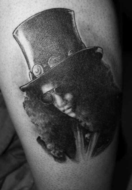 my first tattoo. slash done by otis @ redneck tattoo lillehammer norway