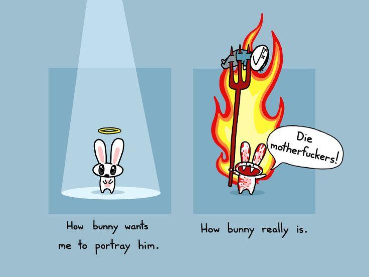 How Bunny Really Is Art Print ($15) - Sebastien Millon / Art & Illustration