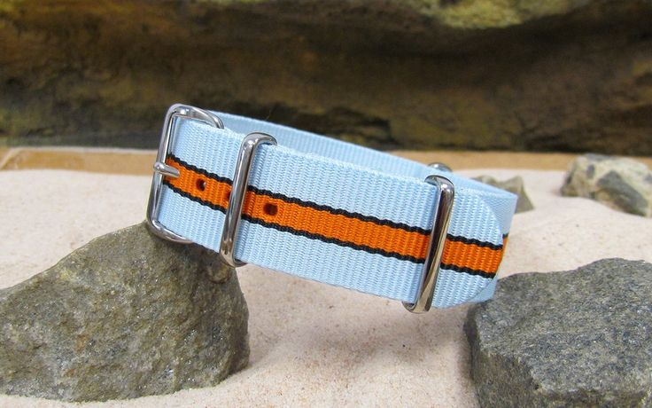 The Le Mans II NATO Strap w/ Polished Hardware 22mm