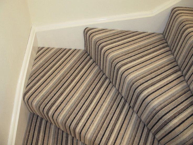 Striped carpet on stairs around corners decorating - Wallpapering around a curved corner ...
