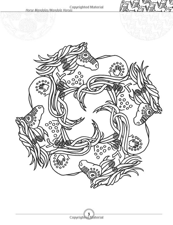 Online Kleurplaten Paarden Horseshoe Mandala Amazoncom Horse Mandalas Mandala