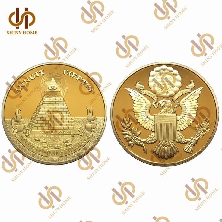 USA National Emblem Annuit Coeptis Novus Ordo Seclorum Masonic Gold Coin Collect | Coins & Paper Money, Coins: World, Collections, Lots | eBay!