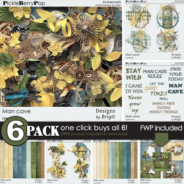 Man Cave {6-Pack plus FWP} by Designs by Brigit