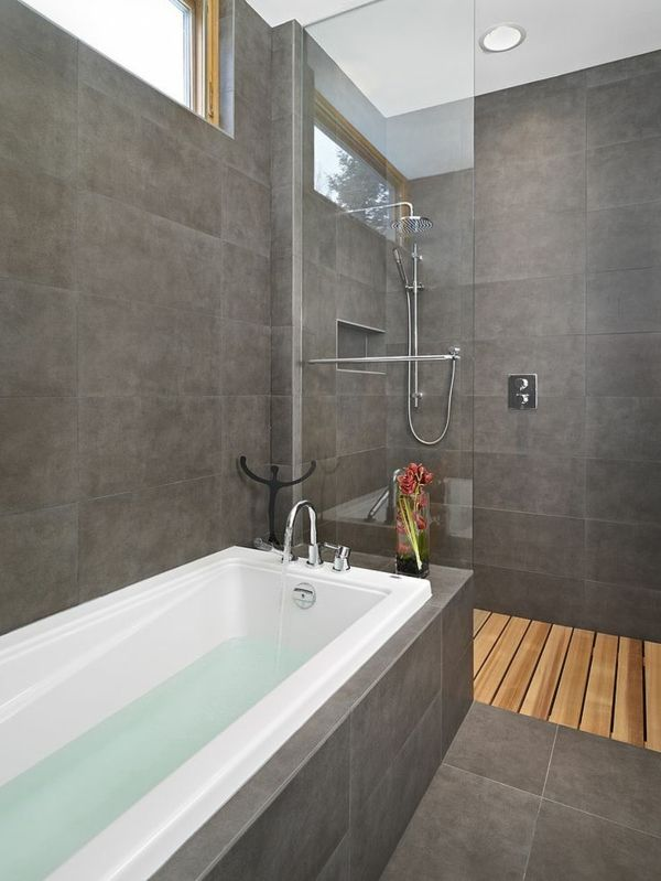 salle de bains grise,une salle de bains moderne et élégante