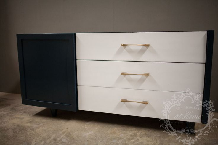 Step by step navy lacquered dresser